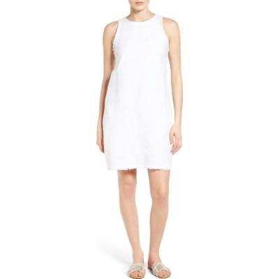 トミー バハマ TOMMY BAHAMA レディース ワンピース シフトドレス ワンピース・ドレス Two Palms Frayed Trim Shift Dress White
