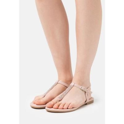 アンナフィールド レディース サンダル T-bar sandals - beige