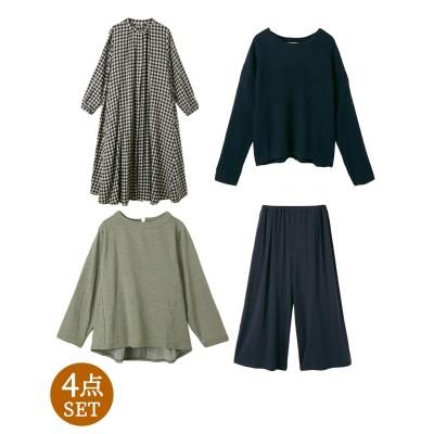 【ナチュラル福袋】シャツワンピで着回し4点セット (ワンピース)Dress