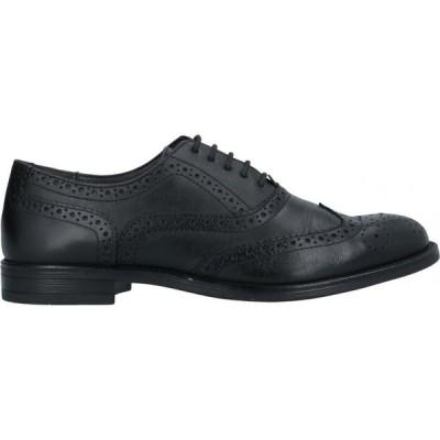プレグンタ PREGUNTA メンズ 革靴・ビジネスシューズ シューズ・靴 Laced Shoes Black