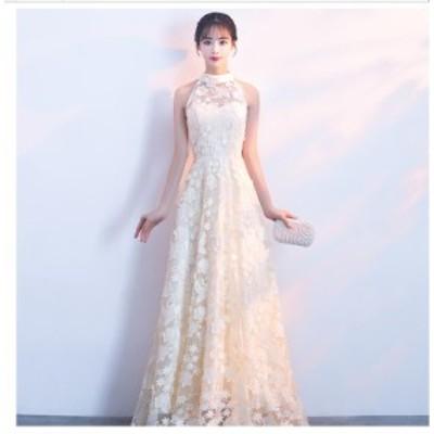ウエディングドレス 結婚式ドレス パーティードレス ロングドレス 大きいサイズ Aラインワンピース フォーマル 上品 大人 発表会 披露宴