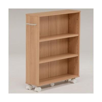 本棚 書棚 隙間収納 スライド 幅16cm 高さ68cm ナチュラル 隙間本棚 スライド本棚 クローゼット本棚 クローゼットラック 隙間ワゴン 隙間棚 スリム 隙間