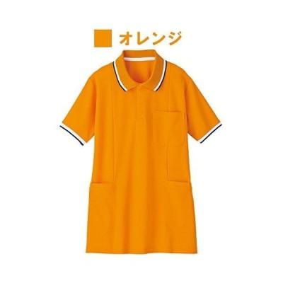 自重堂 WHISEL 半袖ロングポロシャツ WH90338 オレンジ 3L