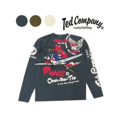 テッドマンズ TEDMAN'S 長袖 Tシャツ 抜染プリント TDLS-326