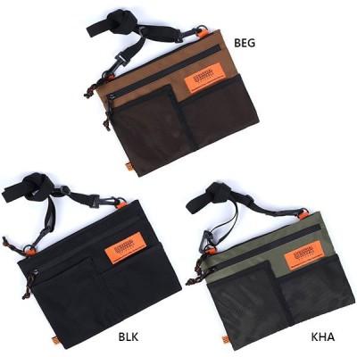 ユニバーサルオーバーオール メンズ レディース メッシュポケットサコッシュ バッグインバッグ 散歩 UVO-059