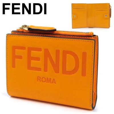 FENDI フェンディ ROMA Bifold Wallet ローマ バイフォールド ウォレット 二つ折り財布 ロゴ レディース 8M0447 AAYZ F1DZH