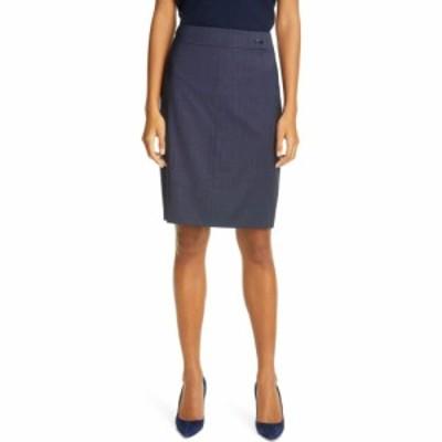 ヒューゴ ボス BOSS レディース スカート Vasteria Microcheck Wool Blend Skirt Midnight Fantasy
