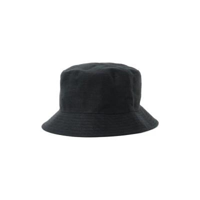【ビームス メン】 GRILLO × BEAMS / 別注 Linen Bucket Hat メンズ ブラック - BEAMS MEN