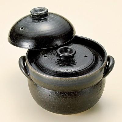和食器 瑠璃色ブルー釉 ご飯鍋2合炊 中蓋付 萬古焼 土鍋 直火 耐熱 おうち ごはん おしゃれ プレゼント 陶器 うつわ