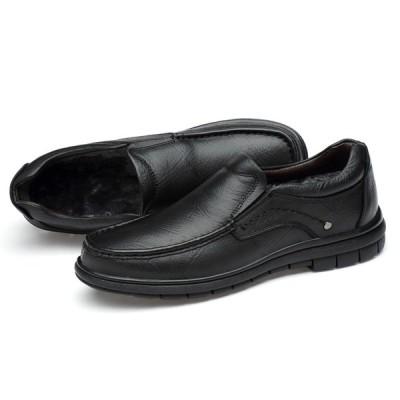 冬用メンズビジネスシューズ 紳士靴 プレーントゥ オックスフォード シューズ 軽量 革靴 通勤 本革レザー 通気性 カジュアル ロングノーズ