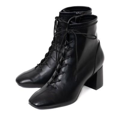 R&E / 【20AW新作】【REZOY】スクエアトゥレースアップショートブーツ WOMEN シューズ > ブーツ