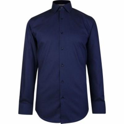 ヒューゴ ボス Boss メンズ シャツ トップス micro dot shirt Navy