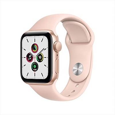 Apple Watch SE(GPSモデル)- 40mmゴールドアルミニウムケースとピンクサンドスポ
