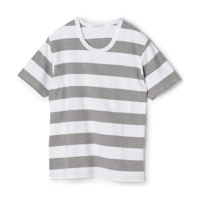 tシャツ Tシャツ 梨地ボーダーTシャツ