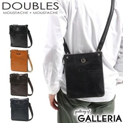 【商品レビューで+5%】ダブルス ショルダーバッグ DOUBLES バッグ 斜め掛け タテ型 レザー メンズ レディース YHB-1691