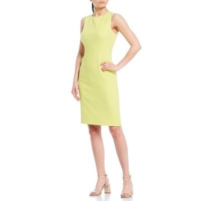 アントニオメラニー レディース ワンピース トップス Erin Double Face Sheath Sleeveless Dress Limeade