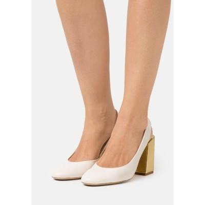 フルラ ヒール レディース シューズ BLOCK SLING BACK - Classic heels - pergamena/oro light