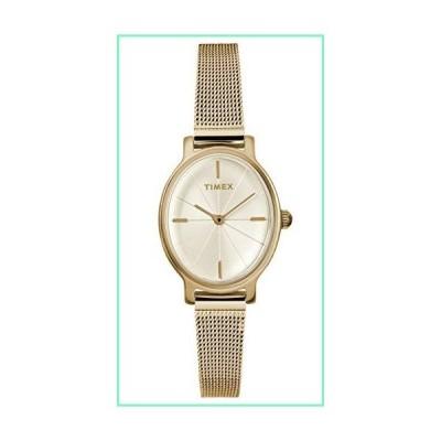 Timex レディース アナログクラシッククォーツ腕時計 ステンレススチールストラップ付き ゴールド【並