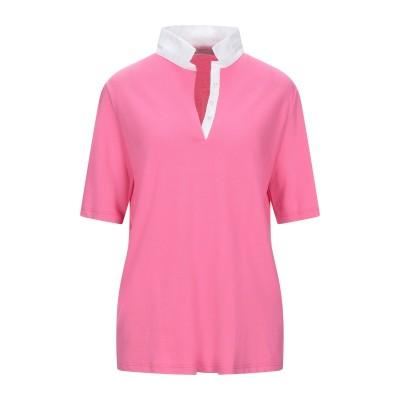 GIANNI CUCCUINI ポロシャツ フューシャ 48 コットン 97% / ポリウレタン 3% ポロシャツ