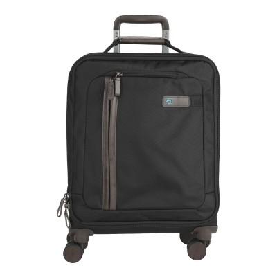 PIQUADRO キャスター付きバッグ ブラック 紡績繊維 キャスター付きバッグ