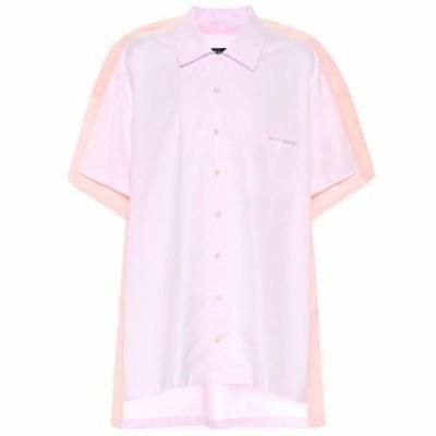 ワイプロジェクト Y/PROJECT レディース ブラウス・シャツ ボーリングシャツ トップス Cotton poplin bowling shirt Ltpink