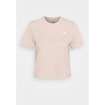 ノースフェイス シャツ レディース トップス FOUNDATION CROP TEE - Basic T-shirt - pearl blush heather