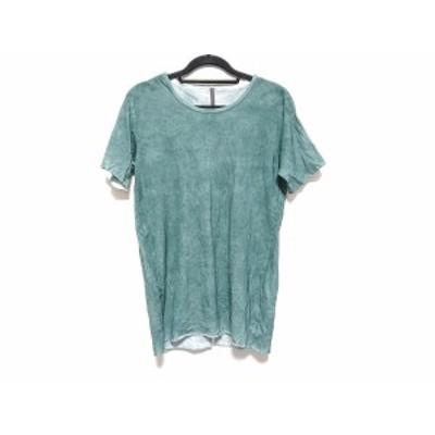 カズユキクマガイ KAZUYUKI KUMAGAI 半袖Tシャツ サイズ1 S レディース - グリーン【中古】20210105