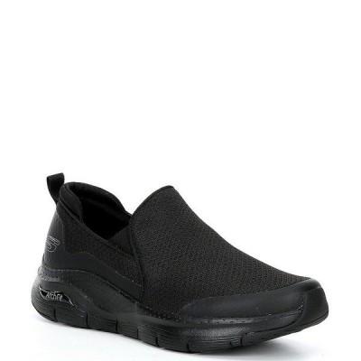 スケッチャーズ メンズ スニーカー シューズ Men's Arch Fit Banlin Slip-Ons Black/Black