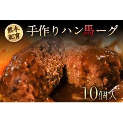 手作りハン馬ーグ 100g×10個 馬肉100%配合!【熊本肥育】ハンバーグ たっぷり 冷凍 お中元 肉 お手軽 お取り寄せ《11月中旬-12月中旬頃より順次出荷》