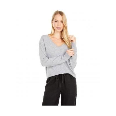 Vince ヴィンス レディース 女性用 ファッション セーター Weekend V-Neck - Heather Steel