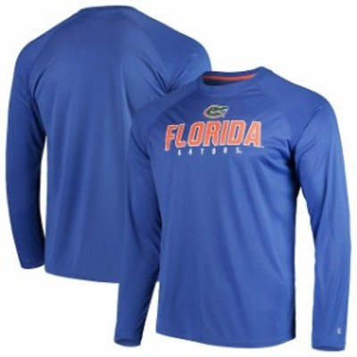 Champion チャンピオン スポーツ用品  Champion Florida Gators Royal Home Team Performance Raglan Long Sleeve T-Shirt