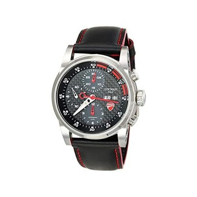 LOCMAN Analog Quartz Watch with Stainless Steel Strap, Clear, 20 (Model: 45