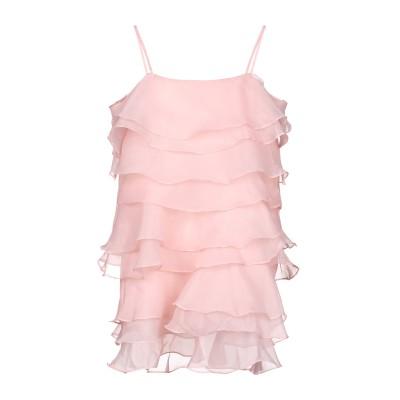 BY MALINA ミニワンピース&ドレス ピンク L ポリエステル 100% ミニワンピース&ドレス