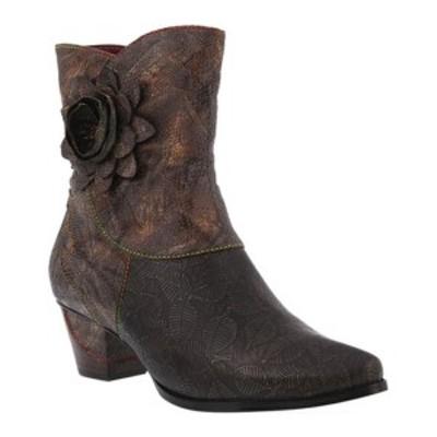 スプリングステップ レディース ブーツ&レインブーツ シューズ Shania Ankle Boot Brown Leather/Synthetic