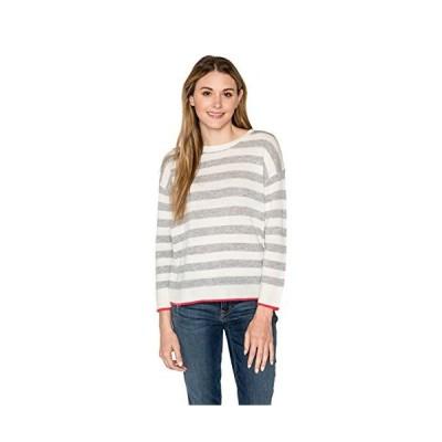 Velvet by Graham & Spencer Women's Rylan Cashmere Blend Stripe Sweater, Hea