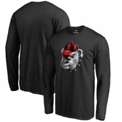 Fanatics Branded ファナティクス ブランド スポーツ用品  Georgia Bulldogs Black Midnight Mascot Long Sleeve T-Shi