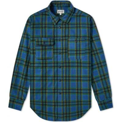 エンジニアードガーメンツ Engineered Garments Workaday メンズ シャツ トップス Utility Shirt Navy/Green Plaid