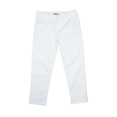 RONNIE KAY パンツ ホワイト 8 コットン 97% / ポリウレタン 3% パンツ