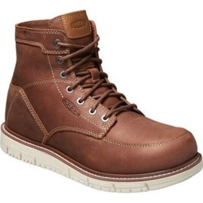 キーン KEEN Utility メンズ ブーツ ワークブーツ シューズ・靴 San Jose 6 Soft Waterproof Work Boot Gingerbread/Off White Leather