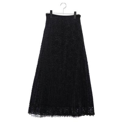 ミラオーウェン Mila Owen セットアップレースプリーツマキシスカート (ブラック)
