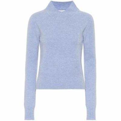 ヴィクトリア ベッカム Victoria Beckham レディース ニット・セーター トップス Cropped wool turtleneck sweater Light Blue Melange
