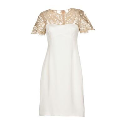 MIKAEL AGHAL ミニワンピース&ドレス アイボリー 2 シルク 100% / ポリエステル ミニワンピース&ドレス