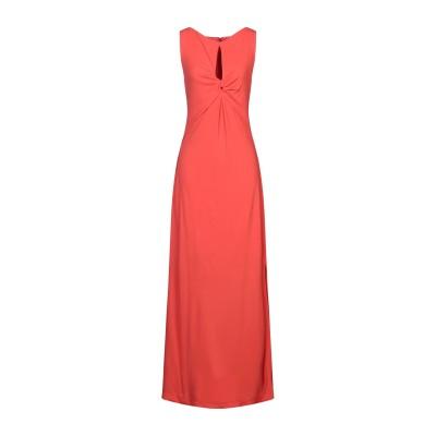 CLIPS ロングワンピース&ドレス オレンジ L レーヨン 72% / ポリエステル 28% ロングワンピース&ドレス