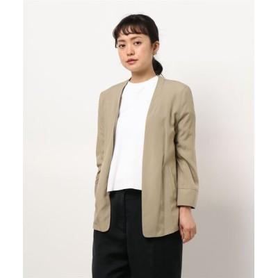 INTERPLANET/actuel / プロテクール(抗菌加工)カラーレスジャケット WOMEN ジャケット/アウター > ノーカラージャケット