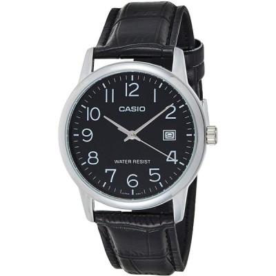 Casio Men's MTPV002L-1B Silver Leather Japanese Quartz Fashion Watch 並行輸入品