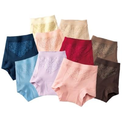 ベルーナ 【10色組】ちょい漏れ入門 肌当たり優しい綿100%安心ショーツ 1 M レディース