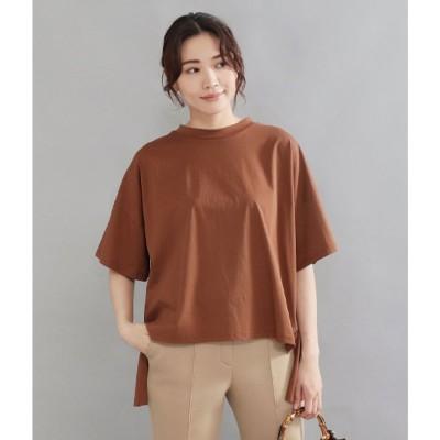 AULI バックフリルTシャツ(モカ)