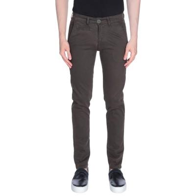 LIU •JO MAN パンツ ダークブラウン 44 コットン 97% / ポリウレタン 3% パンツ