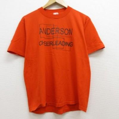 古着 半袖 ビンテージ Tシャツ 90年代 90s ANDERSON クルーネック USA製 オレンジ Lサイズ 中古 メンズ Tシャツ 古着