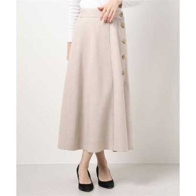 スカート ・釦デザインAラインスカート*